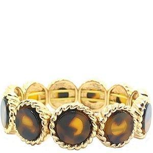 Monet GoldTone Tortoise Shell Stretch Bracelet 305